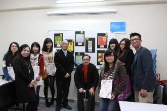 老師們與得獎同學大合照