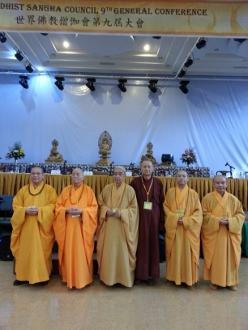 香港長老及法師出席世界佛教僧伽會第九屆會議開幕禮